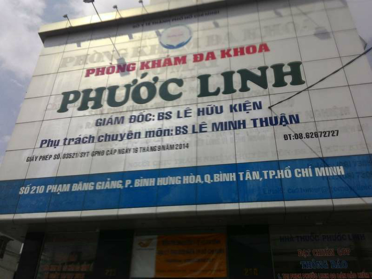 Phòng khám Đa khoa Phước Linh là một phòng khám bệnh đa khoa tư nhân, tọa lạc tại  quận Bình Tân, TP. HCM.