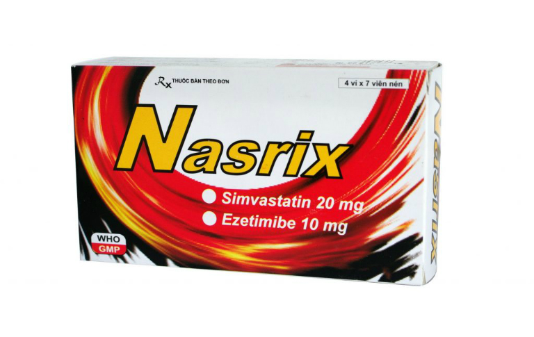 Thuốc Nasrix làm giảm cholesterol trong máu, giúp phòng tránh đau tim, đột quỵ.