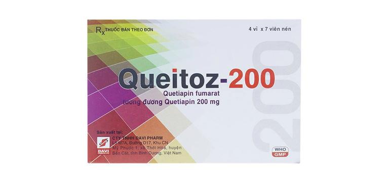 Thuốc Queitoz còn được bào chế với hàm lượng 200mg hoạt chất.