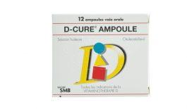 Thuốc D-cure là thuốc bổ sung vitamin D, hỗ trợ điều trị các bệnh về xương khớp.