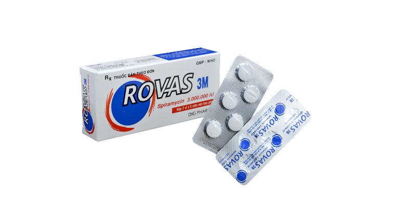 Thuốc Rovas là thuốc kháng sinh điều trị nhiễm khuẩn ở đường hô hấp, da,...
