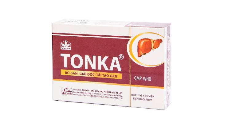 Tonka là thuốc điều trị các bệnh về gan như viêm gan B, suy gan, gan nhiễm mỡ,...