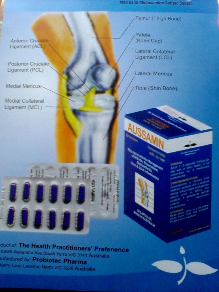 Thuốc Aussamin giúp đặc trị các bệnh về xương khớp