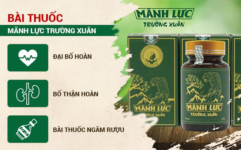 Mãnh lực Trường xuân là giải pháp hàng đầu cho quý ông Việt
