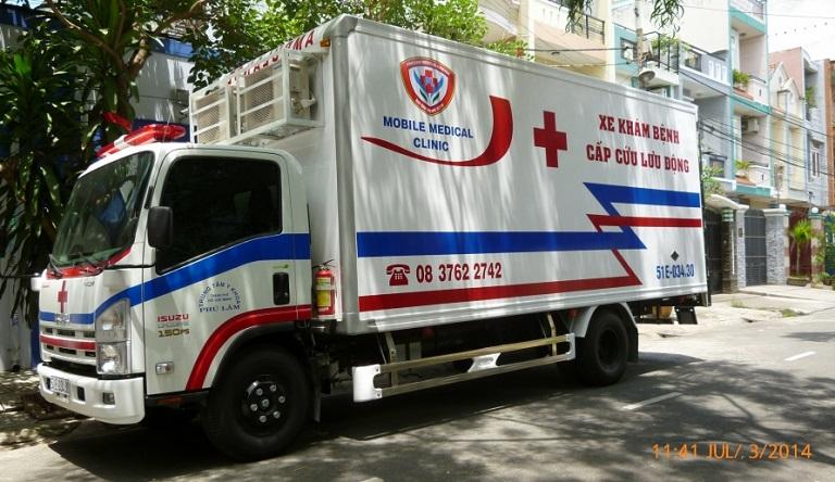 Dịch vụ khám sức khỏe bằng xe y tế lưu động
