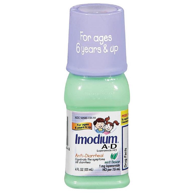 Thuốc IMODIUM A-D Anti-Diarrheal Oral Solution sử dụng trẻ từu 6 - 11 tuổi