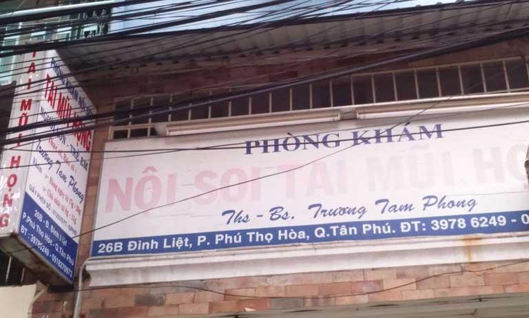 phòng khám bác sĩ Trương Tam Phong