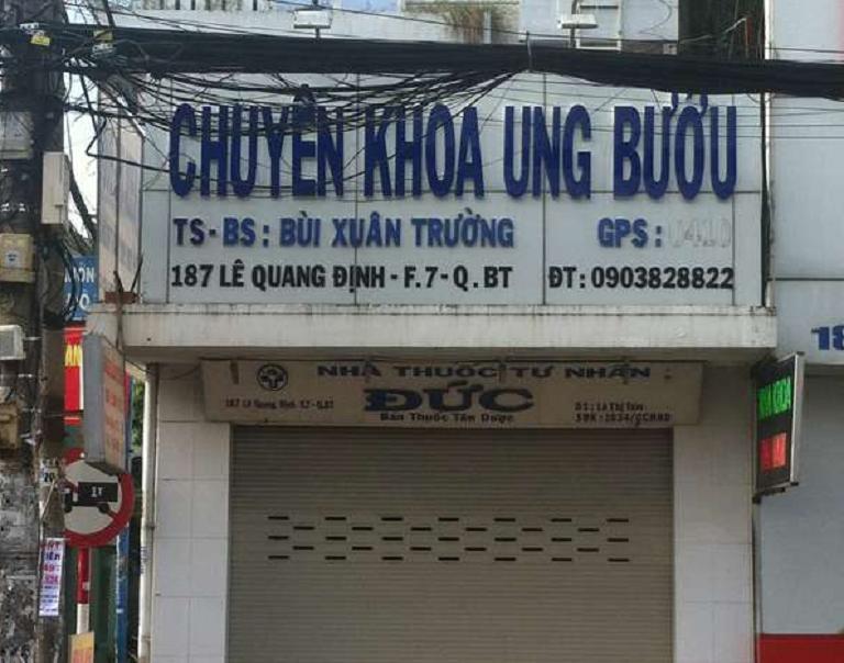 Phòng khám chuyên khoa BS.TS Bùi Xuân Trường khám/chữa ung bướu