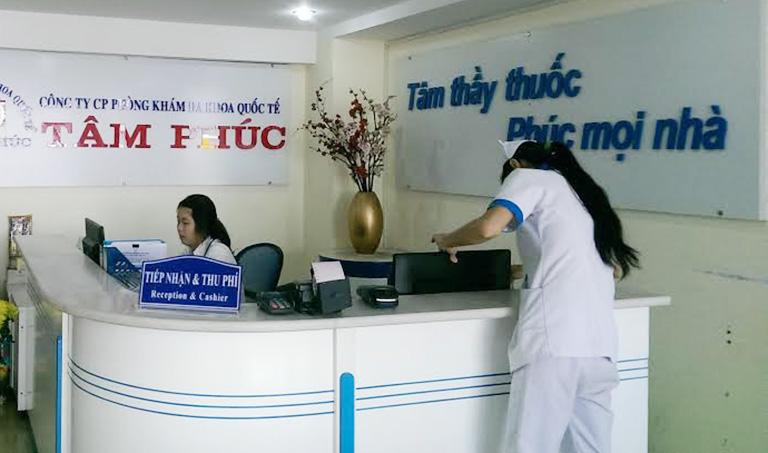 quy trình khám bệnh Phòng khám Đa khoa Quốc tế Tâm Phúc