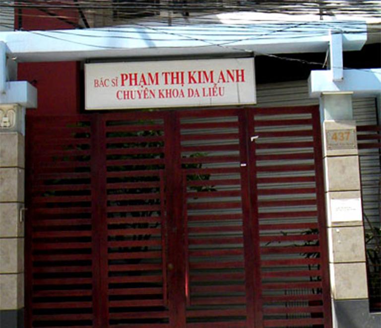 Phòng khám bác sĩ Phạm Thị Kim Anh - chuyên khoa Da liễu tọa lạc tại 437 Huỳnh Văn Bánh, Phường 13, Quận Phú Nhuận, Thành phố Hồ Chí Minh