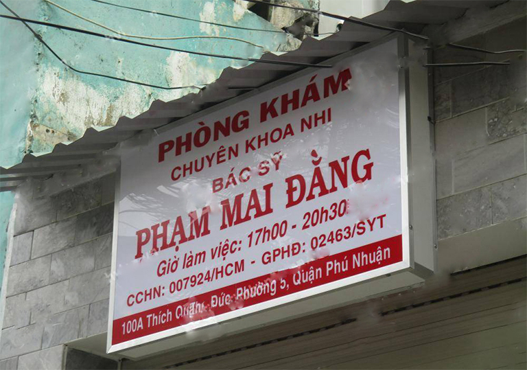 Phòng khám nhi bác sĩ Phạm Mai Đằng (Bệnh viện Nhi đồng 2) Quận Phú Nhuận, TP. HCM