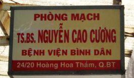 Phòng mạch TS. BS Nguyễn Cao Cương - Bệnh viện Bình Dân