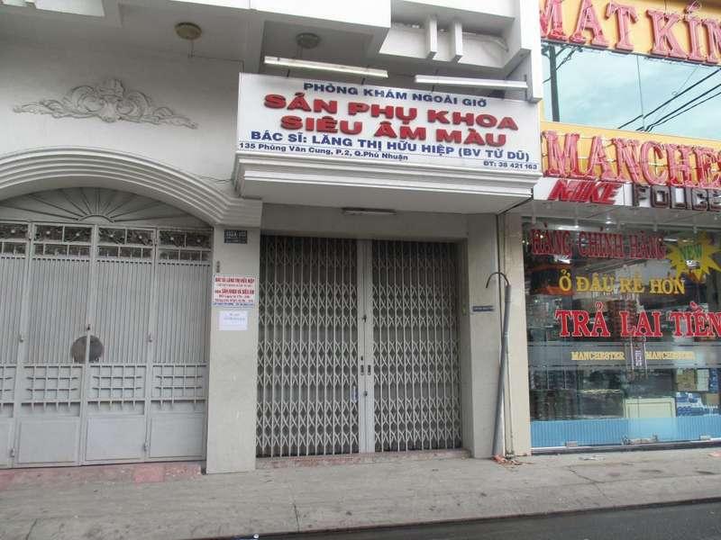 Phòng khám Sản phụ khoa - Bác sĩ Lăng Thị Hữu Hiệp (Bệnh viện Từ Dũ)