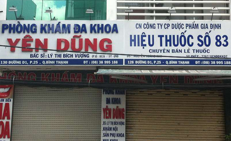 Những thông tin về phòng khám đa khoa Yên Dũng, quận Bình Thạnh, TP.HCM