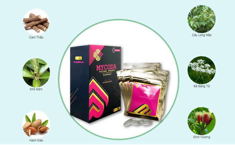 Viên đặt phụ khoa Mycoda với 100% thành phần từ thảo dược tự nhiên