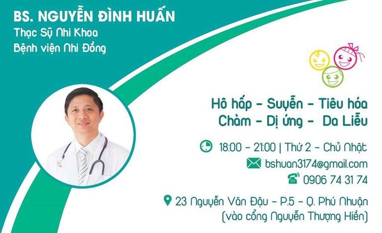 Thông tin về Phòng khám Bác sĩ Nguyên Đình Huấn - Chuyên khoa Nhi