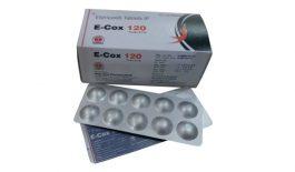Thuốc E-cox điều trị các cơn đau viêm, thường dùng để điều trị viêm xương khớp, viêm khớp dạng thấp, bệnh gout,...