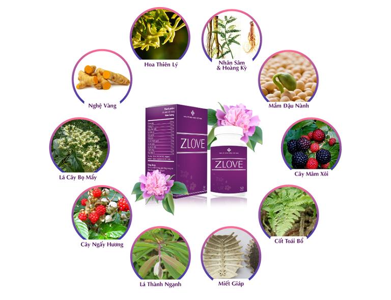 Thành phần tự nhiên 100% trong viên uống Zlove