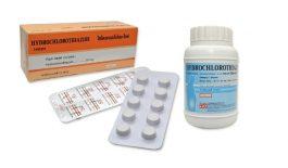Thuốc Hydrochlorothiazid là thuốc lợi tiểu, dùng để trị chứng phù, tăng huyết áp,...