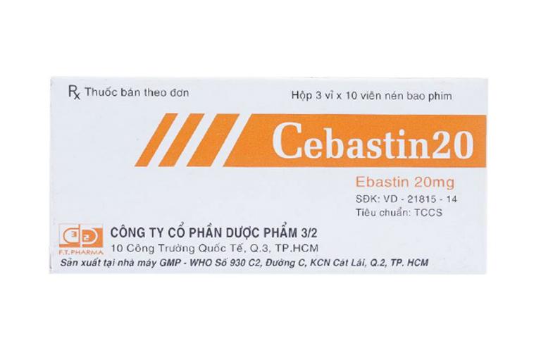 Thuốc Cebastin điều trị bệnh viêm mũi dị ứng, nổi mề đay, viêm kết mạc dị ứng.