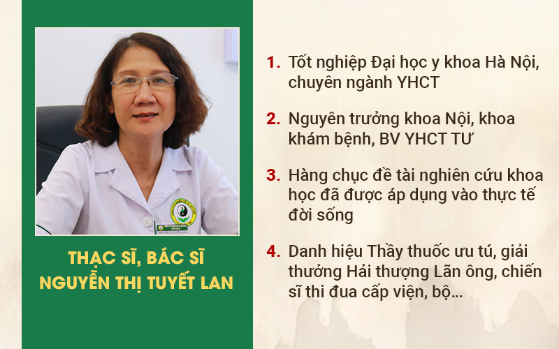 Bác sĩ Tuyết Lan đã có hơn 40 năm hiến, gắn bó với nền YHCT của nước nhà