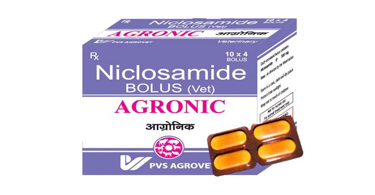 định tính niclosamid