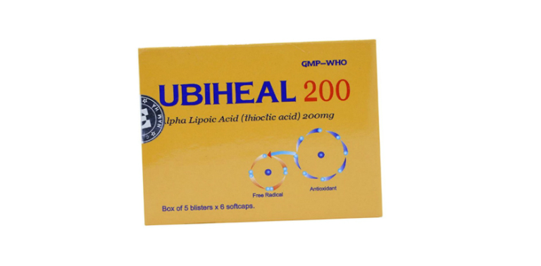 Hàm lượng của thuốc Ubiheal là 100mg, 200mg và 300mg.