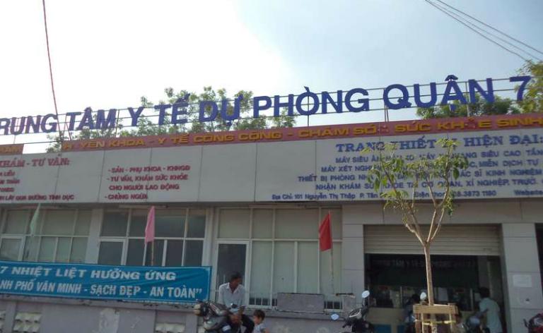 Trung tâm Y tế dự phòng quận 7 tọa lại tại số 101, đường Nguyễn Thị Thập, quận 7, Thành phố Hồ Chí Minh.