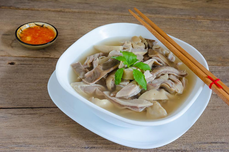 Món ăn từ bàng quang lợn điều trị chứng đi tiểu đêm nhiều lần