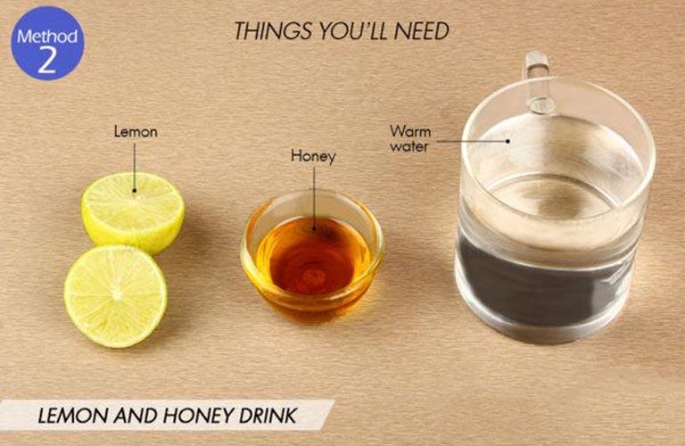mật ong chanh trị viêm họng
