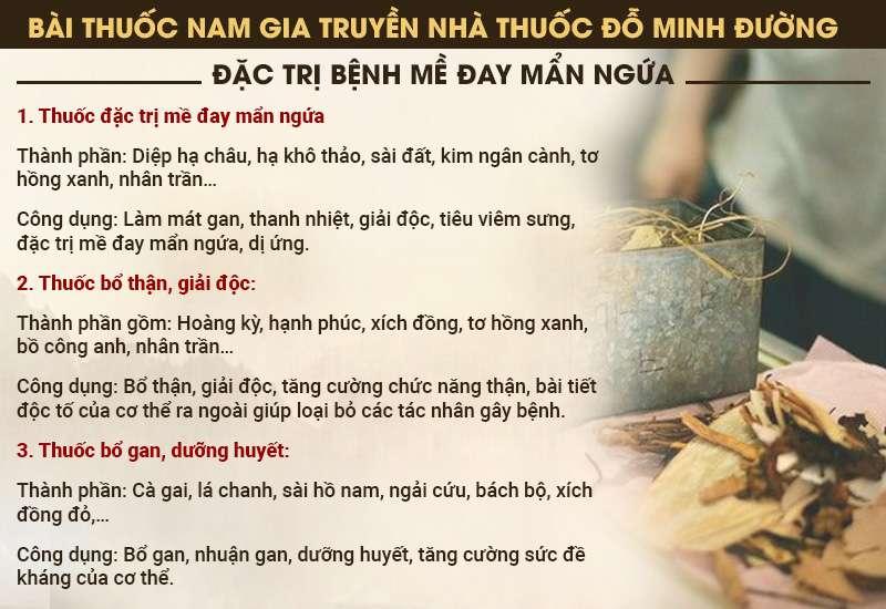 bài thuốc nam gia truyền dòng họ Đỗ Minh