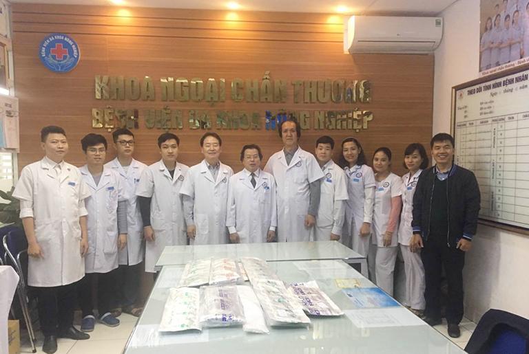 Đội ngũ bác sĩ tại Bệnh Viện Đa khoa Nông Nghiệp