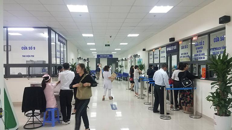 Quy trình khám chữa bệnh và nhập viện tại bệnh viện Y học cổ truyền Bộ Công an