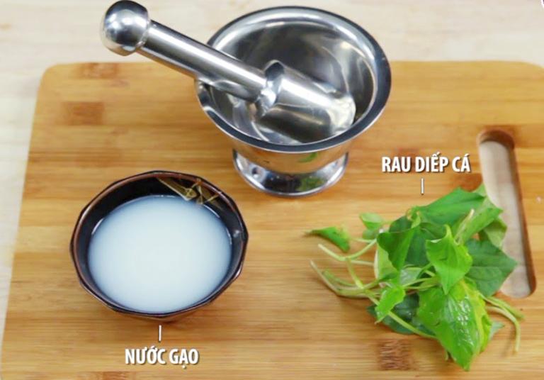 Công thức chữa ho bằng rau diếp cá và nước vo gạo