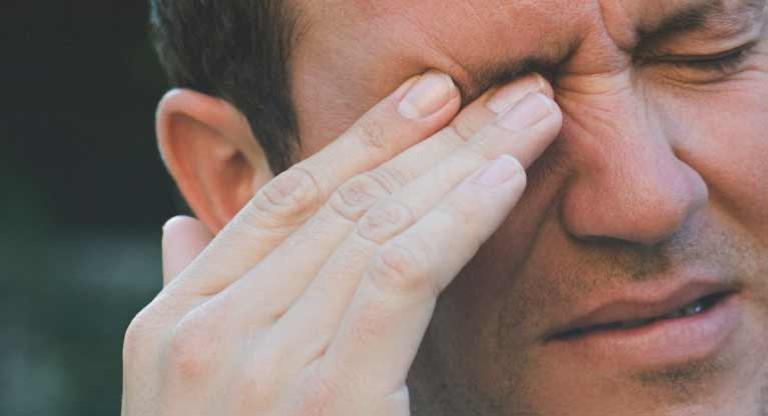 Zona thần kinh ở gần mắt