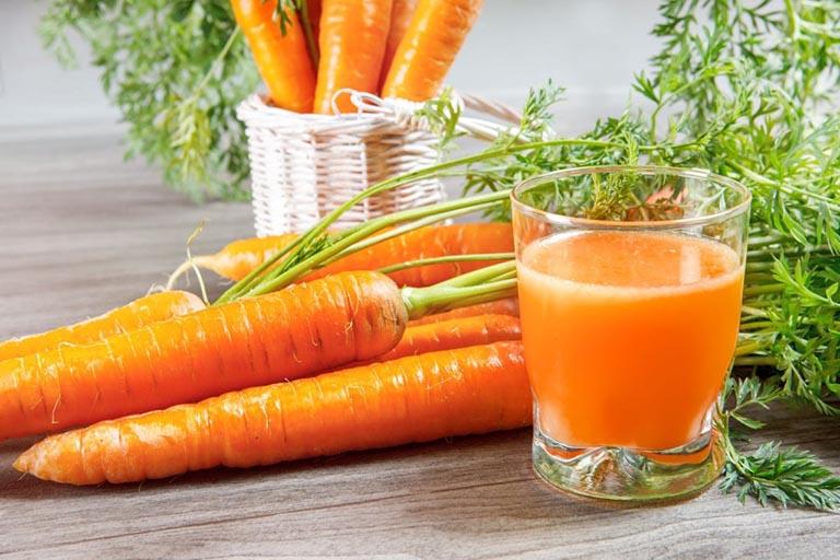 Nước ép cà rốt mật ong giúp bổ sung các chất dinh dưỡng cho cơ thể