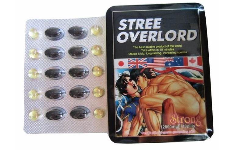 """Thuốc cường dương Stree Overlord dành cho """"cánh mày râu"""""""