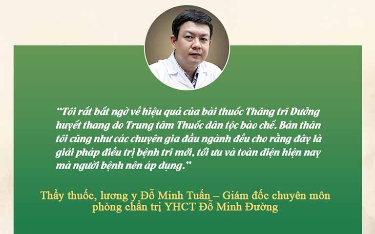 Bác sĩ Đỗ Minh Tuấn đánh giá về bài thuốc Thăng trĩ Dưỡng huyết thang