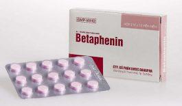 Thuốc Betaphenin điều trị dị ứng và các trường hợp quá mẫn