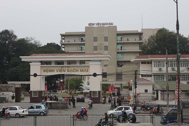 Bệnh viện Bạch Mai là một trong những bệnh viện lớn của nước ta