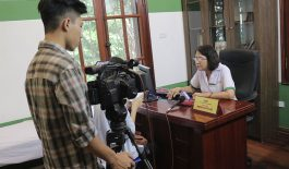 Thạc sĩ, bác sĩ Nguyễn Thị Tuyết Lan trả lời phỏng vấn phóng viên đài VTC2
