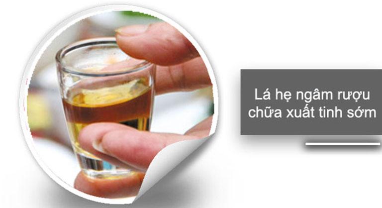 Cải thiện tình trạng xuất tinh sớm bằng cách dùng rượu ngâm lá hẹ