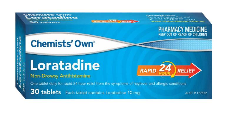 Thuốc chống dị ứng ngứa mề đay Loratadine là dòng thuốc thế hệ mới, không gây buồn ngủ.