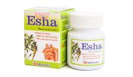 Thuốc Esha có tác dụng tiêu viêm, làm giảm nghẹt mũi, được chỉ định để điều trị viêm xoang, viêm mũi dị ứng cho trẻ trên 5 tuổi và người lớn.