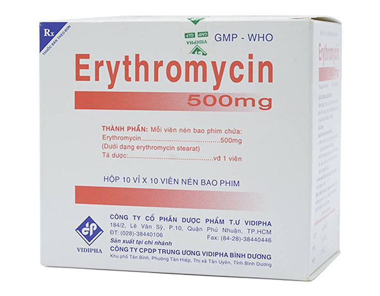 Erythromycin là loại thuốc đầu tiên được sản xuất của nhóm kháng sinh Macrolide