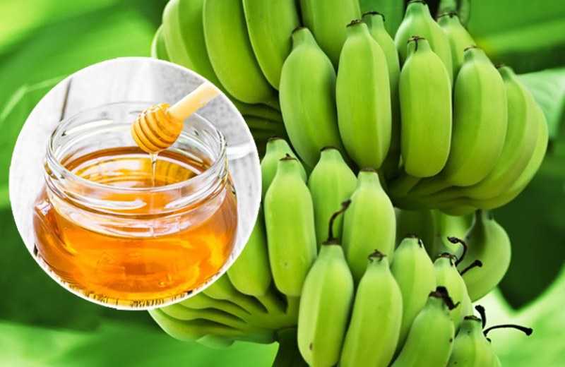 Chuối xanh và mật ong chữa viêm dạ dày HP hiệu quả