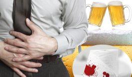 đi ngoài ra máu sau khi uống rượu bia