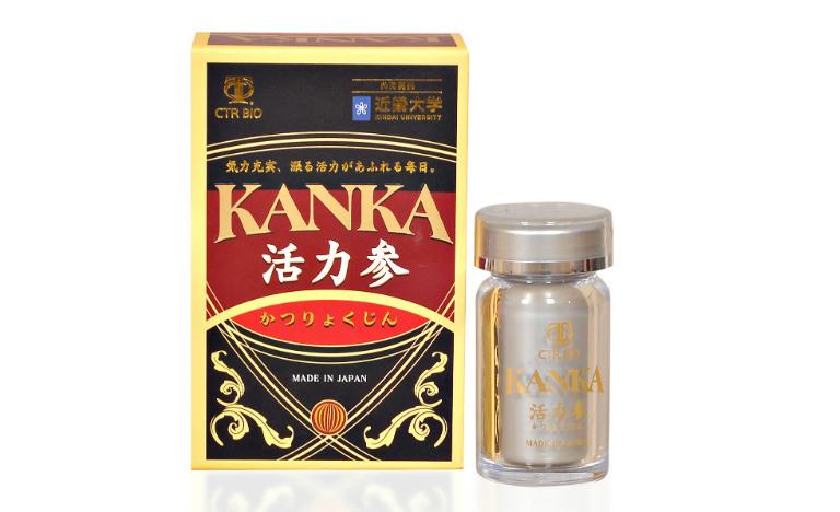 Viên uống Kanka có tác dụng bồi bổ thận, thích hợp dùng ở những người bị bệnh yếu thận, nam giới bị ù tai mỏi gối, yếu sinh lý,...