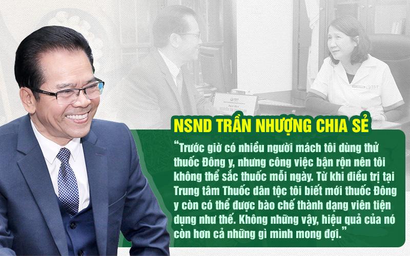 NSND Trần Nhượng chia sẻ cơ duyên chữa đau dạ dày Thuốc dân tộc
