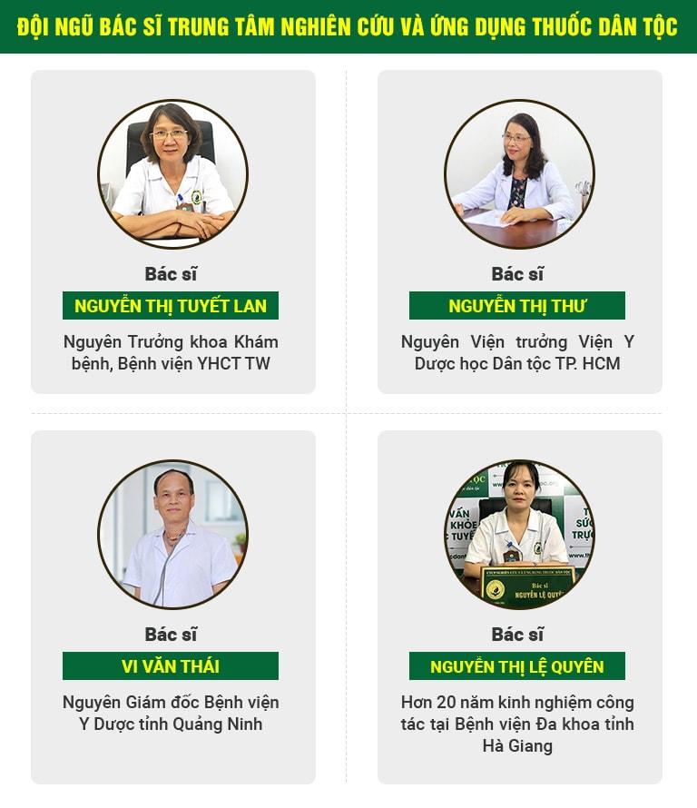 đội ngũ bác sĩ của Thuốc dân tộc